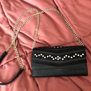 STEVE MADDEN black clutch/bag